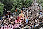 Ganesh immersion procession, Mumbai, Maharashtra, India, Asia