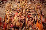 Goddess Durga statue during Durga Pooja, Kolkata, West Bengal, India, Asia