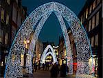 Christmas lights on South Molton Street, London, England, United Kingdom, Europe