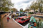 View along the Grand Union Canal, Little Venice, Maida Vale, London, England, United Kingdom, Europe