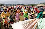 Friday market in the Betsileo country, around Fianarantsoa, Madagascar, Africa