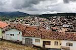 View over Congonhas seen from the terrace of The Basilica do Bom Jesus de Matosinhos in Congonhas, Minas Gerais, Brazil, South America