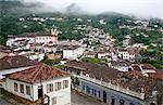 A view over the city of Ouro Preto, UNESCO World Heritage Site, Minas Gerais, Brazil, South America