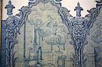 18th century Portuguese tile decoration (azulejos) at the Igreja de Nossa Senhora do Carmo (Our Lady of Mount Carmel) church, Ouro Preto, UNESCO World Heritage Site, Minas Gerais, Brazil, South America