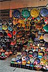 Display of merchandise, The Souks, Medina, Marrakesh, Morocco, North Africa, Africa