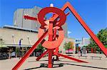 Lao Tzu sculpture by Mark di Suvero, Acoma Plaza, Denver, Colorado, United States of America, North America