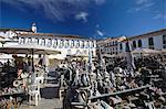 Ceramics market, Ouro Preto, UNESCO World Heritage Site, Minas Gerais, Brazil, South America