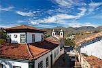 View of Our Lady of Merces de Baixo Church, Ouro Preto, UNESCO World Heritage Site, Minas Gerais, Brazil, South America