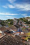 View of Ouro Preto, UNESCO World Heritage Site, Minas Gerais, Brazil, South America