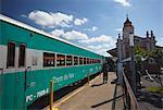 Historic tourist train at Mariana station, Minas Gerais, Brazil, South America