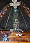 Interior of Metropolitan Cathedral of St. Sebastian, Centro, Rio de Janeiro, Brazil, South America