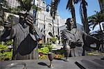 Statues outside Presbyterian Cathedral, Centro, Rio de Janeiro, Brazil, South America