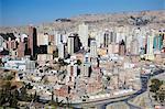View of downtown La Paz, Bolivia, South America