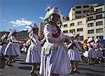 Dancers performing in Entrada Universitaria (University Entrance) Festival, La Paz, Bolivia, South America