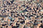View of houses and apartment blocks, La Paz, Bolivia, South America