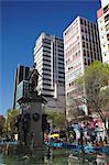 Statue along Avenida 16 de Julio (El Prado), La Paz, Bolivia, South America
