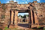Ruins of mission at San Ignacio Mini, UNESCO World Heritage Site, Misiones, Argentina, South America