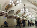 Interior of Kievskaya metro station, Moscow, Russia, Europe
