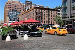 Pedestrian Plaza, Hudson Street, Meatpacking District, Manhattan, New York City, United States of America, North America