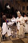 Easter vigil baptisms, Notre Dame cathedral, Paris, France, Europe