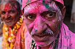 Hindus celebrating Holi festival, Dauji, Uttar Pradesh, India, Asia
