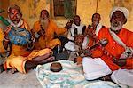 Musicians, Dauji, Uttar Pradesh, India, Asia
