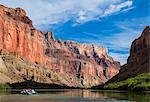 Rafting down the Colorado River, Grand Canyon, Arizona, United States of America, North America