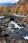 Ashness Bridge in autumn near Keswick, Lake District National Park, Cumbria, England, United Kingdom, Europe