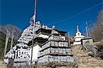 Mani Walls, Solu Khumbu Region, Nepal, Asia