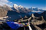 View from Gokyo Ri, 5300 metres, Dudh Kosi Valley, Solu Khumbu (Everest) Region, Nepal, Himalayas, Asia