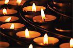 """Candles inside """"Notre Dame de Paris"""""""