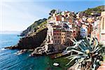 Clifftop village of Riomaggiore, Cinque Terre National Park, UNESCO World Heritage Site, Liguria, Italy