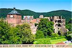 Heidelberg Castle Ruins, Heidelberg, Baden-Wurttemberg, Germany