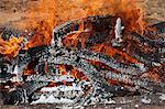 Detail of burning wood