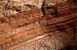 Detail of natural patterns in stone, Karijini National Park, Newman, Western Australia, Australia