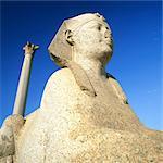 Pompey's Pillar and Sphinx, Alexandria, Egypt
