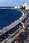 View of El Corniche in Downtown Alexandria, Egypt