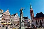 Römer Square, old town, Frankfurt, Main