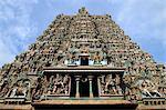 Gopuram of Meenakshi temple in Madurai, India
