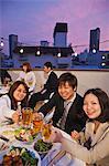 Businessmen drinking together