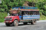 Bus near Medellin, Colombia, South America