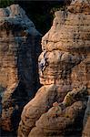 Czech Republic, Bohemia, Prahovskie Region, Particluar rock formations at thePrahovskie Skali natural reserve.