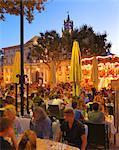 France, Provence, Avignon, Cafe at dusk