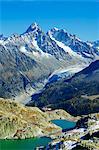 Europe, France, French Alps, Haute Savoie, Chamonix, Lac Blanc