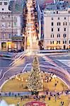 Piazza Venezia, Christmas tree, Rome, Lazio, Italy, Europe.