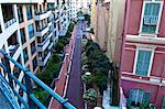 Building detail in La Condamine, Principality of Monaco, Europe