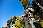 Sculpture of Alberto I in Saint Martin Gardens, Le Rocher, Principality of Monaco, Europe