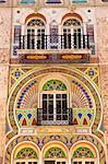 Architecture detail at Moneghetti district in Principality of Monaco, Europe