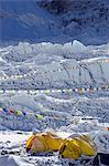 Asia, Nepal, Himalayas, Sagarmatha National Park, Solu Khumbu Everest Region, tents at Everest Base Camp