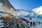 Asia, Nepal, Himalayas, Sagarmatha National Park, Solu Khumbu Everest Region, Camp 2, 6500m, on Mt Everest